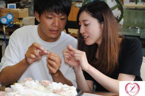 手作り結婚指輪 ブラックゴールド&ホワイトゴールド・ピンクゴールド 群馬県