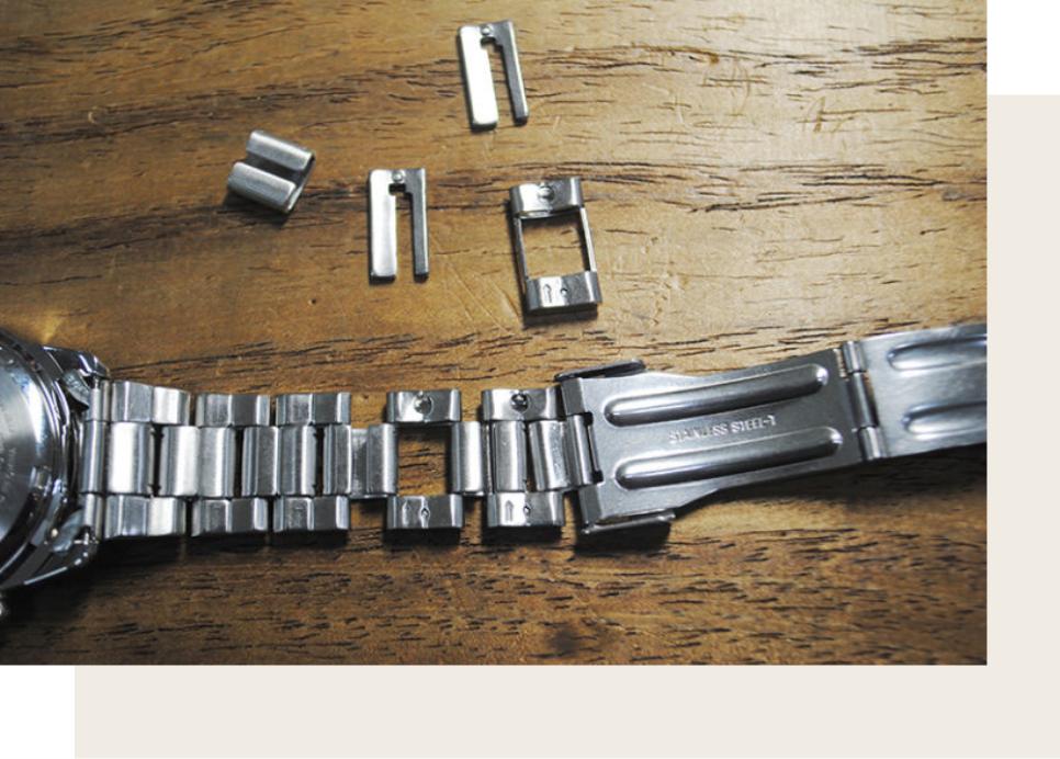 腕時計のベルト調整も即日対応可能
