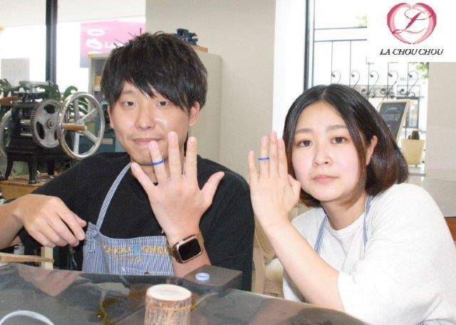 K18ブラックゴールドで作るマリッジリング手作り 愛媛県